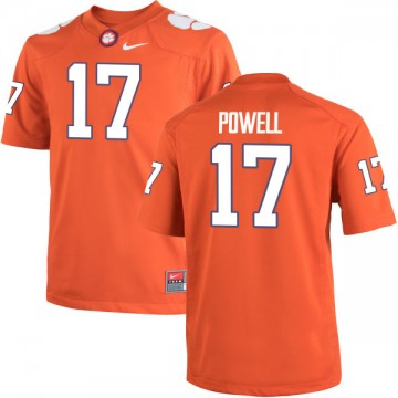 Men's Cornell Powell Clemson Tigers Nike Game Orange Team Color Jersey -
