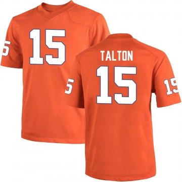 Men's James Talton Clemson Tigers Game Orange Team Color College Jersey