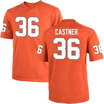 Men's Quinn Castner Clemson Tigers Game Orange Team Color College Jersey