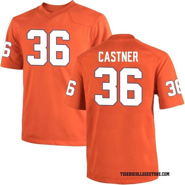 Men's Quinn Castner Clemson Tigers Nike Game Orange Team Color College Jersey