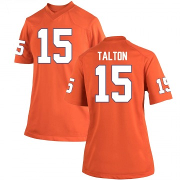 Women's James Talton Clemson Tigers Replica Orange Team Color College Jersey