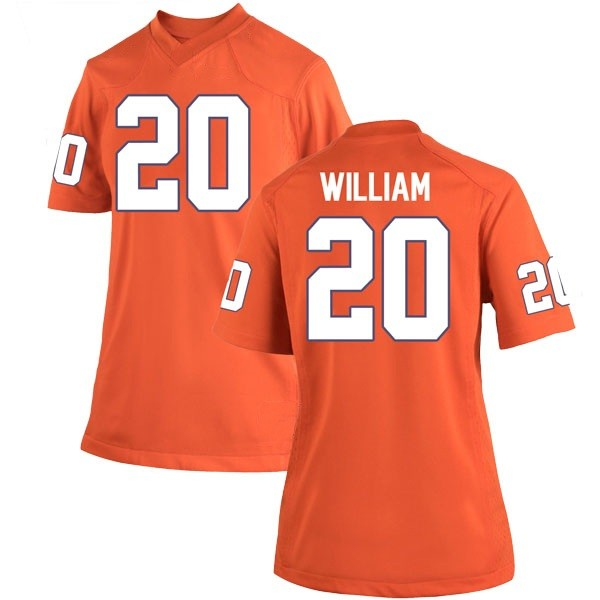Women's Malik William Clemson Tigers Nike Game Orange Team Color College Jersey