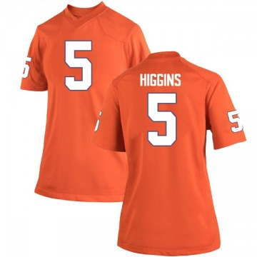 Women's Tee Higgins Clemson Tigers Nike Replica Orange Team Color College Jersey