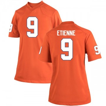 Women's Travis Etienne Clemson Tigers Nike Replica Orange Team Color College Jersey