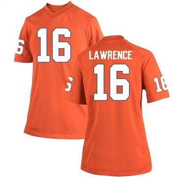 Women's Trevor Lawrence Clemson Tigers Game Orange Team Color College Jersey