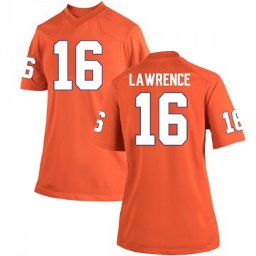 Women's Trevor Lawrence Clemson Tigers Nike Replica Orange Team Color College Jersey