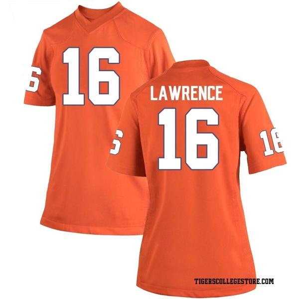 Women's Trevor Lawrence Clemson Tigers Nike Replica Orange Team Color College Jersey