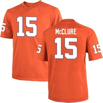 Youth Patrick McClure Clemson Tigers Nike Game Orange Team Color College Jersey