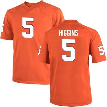 Youth Tee Higgins Clemson Tigers Replica Orange Team Color College Jersey