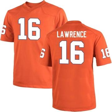 Youth Trevor Lawrence Clemson Tigers Nike Game Orange Team Color College Jersey